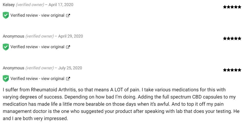 Bare Roots Nutrition Full Spectrum CBD Softgels Customer Reviews