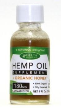 Delta Botanicals CBD Hemp Oil Honey