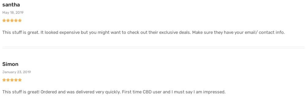 Delta Botanicals CBD Oil Customer Reviews