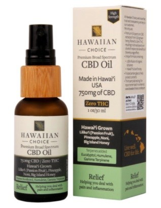 Hawaiian Choice CBD Relief CBD Oil
