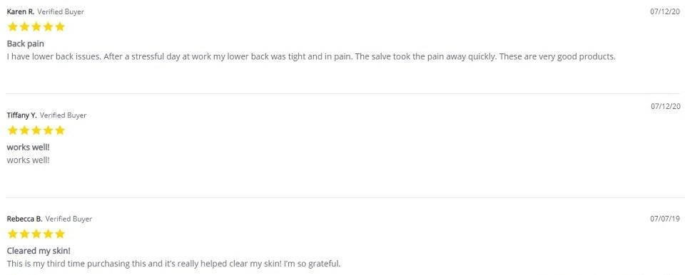 Incann CBD Topicals Customer Reviews