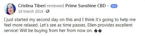 Prime Sunshine CBD Customer Reviews 4