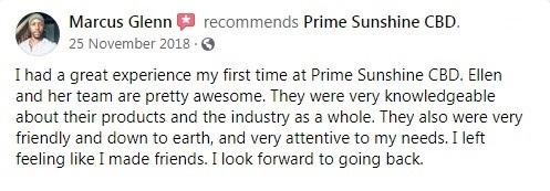 Prime Sunshine CBD Customer Reviews 5