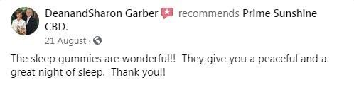 Prime Sunshine CBD Customer Reviews