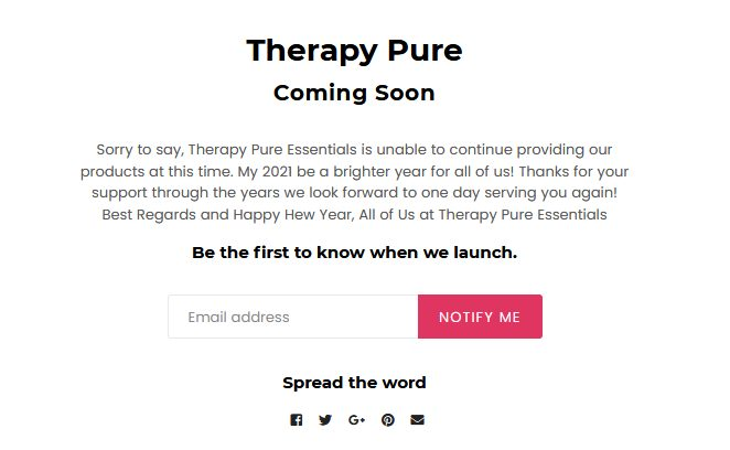 Therapy Pure Essentials CBD Products Coming Soon